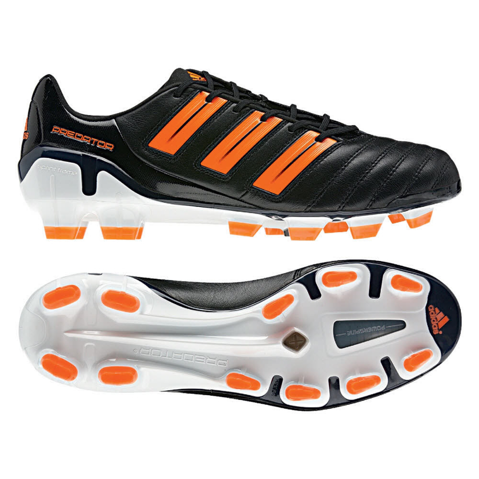 b90fb0d022a7 Adidas Adipower Predator TRX FG Black Orange - The Football Factory