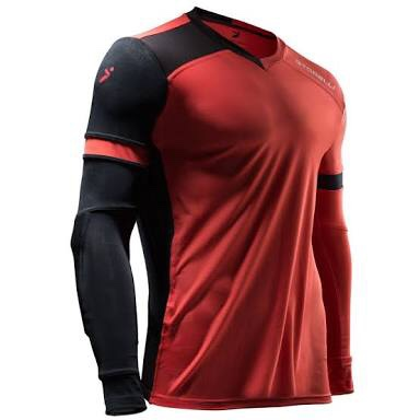 d8dc379ba Exoshield Goalkeeper Jersey (Coral Black) - The Football Factory