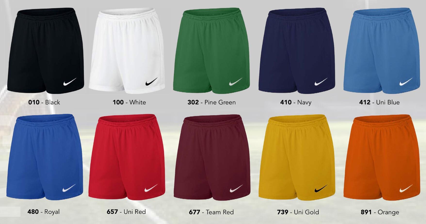 f207472778f3 Nike Women s Park II Knit Shorts (Royal Blue) - The Football Factory