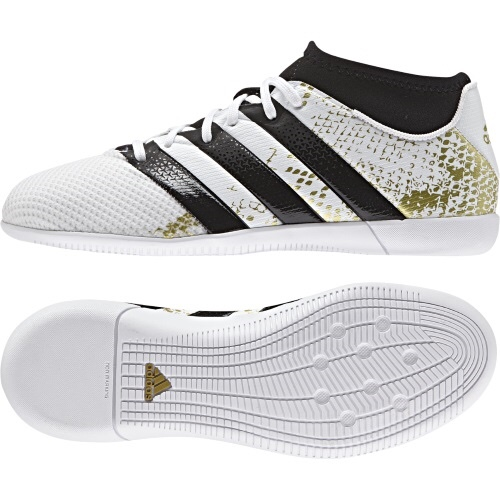 Adidas Ace 16.3 Primemesh IN Junior (White Black Gold) - The Football  Factory c25a44eda476