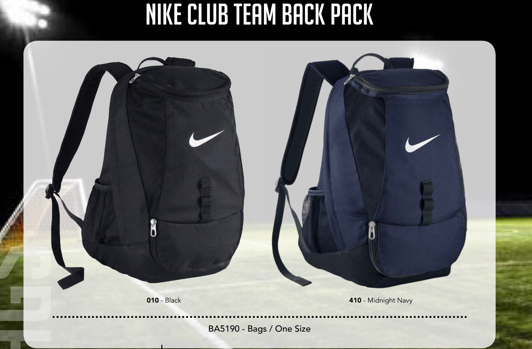 66a820cfbee Nike Club Team Swoosh Backpack - The Football Factory