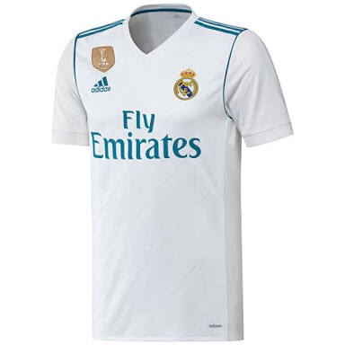 save off a07bc 1d2ff Real Madrid Home Jersey 17/18 Youth